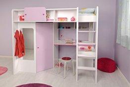 Parisot 2248lsur Set Möbel Kinderzimmer–Mademoiselle weiß megev Holz - 1