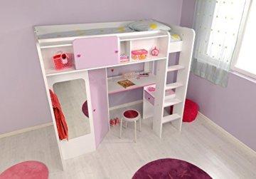 Parisot 2248lsur Set Möbel Kinderzimmer–Mademoiselle weiß megev Holz - 2