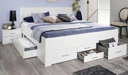 Rauch Bett mit 6 Schubkästen alpinweiß 180 x 200 cm Schubladenbett Funktionsbett - 1
