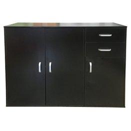 Redstone Schwarz Sideboard Kommode - 3 Türen + 2 Schubladen - Holz - 1