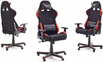 Robas Lund OH/FD01/NR DX Racer 1 Gaming-/ Schreibtisch-/ Bürostuhl, schwarz/rot, 78 x 124-134 x 52 cm - 2