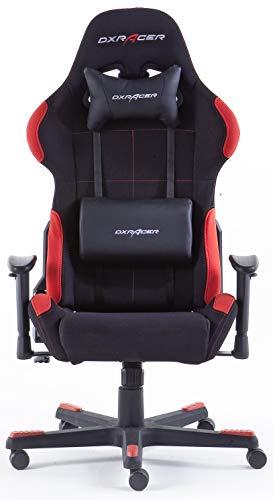 Robas Lund OH/FD01/NR DX Racer 1 Gaming-/ Schreibtisch-/ Bürostuhl, schwarz/rot, 78 x 124-134 x 52 cm - 3