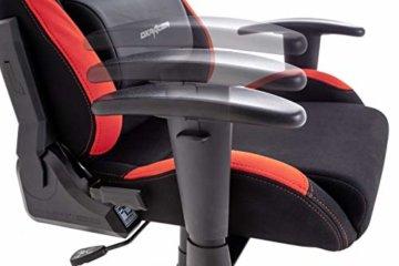 Robas Lund OH/FD01/NR DX Racer 1 Gaming-/ Schreibtisch-/ Bürostuhl, schwarz/rot, 78 x 124-134 x 52 cm - 5