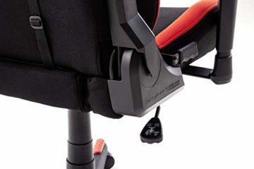 Robas Lund OH/FD01/NR DX Racer 1 Gaming-/ Schreibtisch-/ Bürostuhl, schwarz/rot, 78 x 124-134 x 52 cm - 7