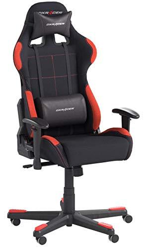 Robas Lund OH/FD01/NR DX Racer 1 Gaming-/ Schreibtisch-/ Bürostuhl, schwarz/rot, 78 x 124-134 x 52 cm - 9