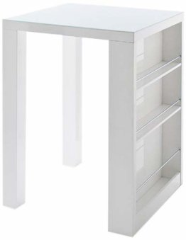 Robas Lund, Tisch, Bartisch, Club, Hochglanz/weiß, 80 x 108 x 80 cm, CLUBHWGW - 1