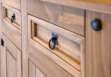 SAM Kommode Santa Fe, Mexico-Möbel, Sideboard aus Kiefernholz, Massivholz Gewachst, je Zwei Schubfächer & Türen, Wohnzimmer-Schrank - 4