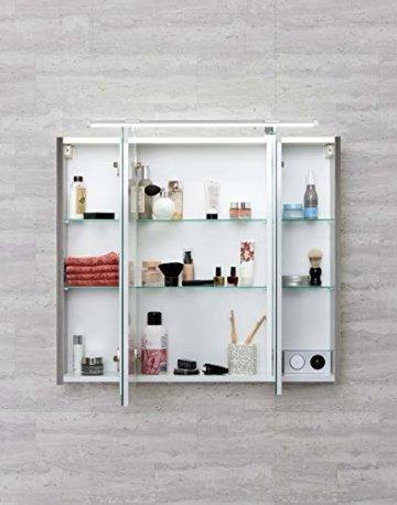 Schildmeyer Trient Holz Dekor Spiegelschrank, grau, 70.0 x 16.0 x 75.0 cm - 3
