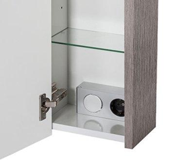 Schildmeyer Trient Holz Dekor Spiegelschrank, grau, 70.0 x 16.0 x 75.0 cm - 8