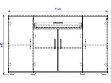 Sideboard Highboard Anrichte Kommode Standschrank Beistellschrank