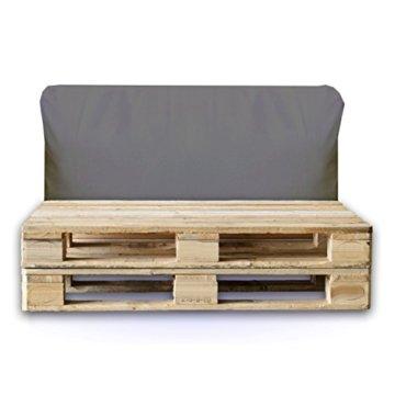 Sitzbag Palettenkissen Rückenkissen 120x40x15cm Farbe Anthrazit - In & Outdoor - Palettenpolster - Paletten Rattanmöbel Polster - 1