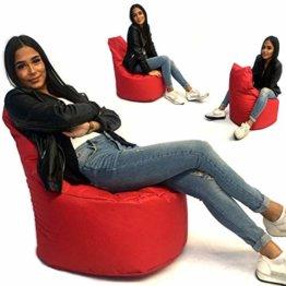 Sitzsack Sessel - für Kinder und Erwachsene - In & Outdoor Sitzsäcke Kissen Sofa Hocker Sitzkissen Bodenkissen mit Styropor Füllung Bean Bag Sitzsäcke Möbel Kissen (Rot) - 1
