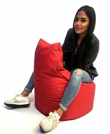 Sitzsack Sessel - für Kinder und Erwachsene - In & Outdoor Sitzsäcke Kissen Sofa Hocker Sitzkissen Bodenkissen mit Styropor Füllung Bean Bag Sitzsäcke Möbel Kissen (Rot) - 4