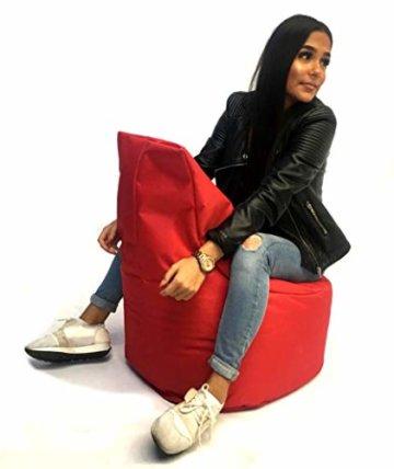 Sitzsack Sessel - für Kinder und Erwachsene - In & Outdoor Sitzsäcke Kissen Sofa Hocker Sitzkissen Bodenkissen mit Styropor Füllung Bean Bag Sitzsäcke Möbel Kissen (Rot) - 6