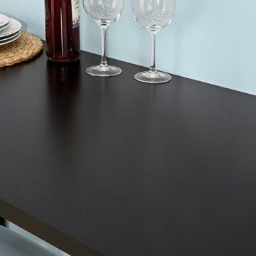 SoBuy FWT17-SCH Bartisch schwarz Küchentisch mit 3 Regalfächern Stehtisch Tresen Theke, BHT ca.: 112x106x57cm - 7