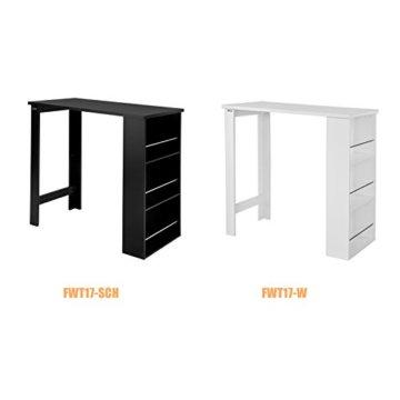 SoBuy® FWT17-W Bartisch Beistelltisch Stehtisch Küchentheke Küchenbartisch mit 3 Regalfächern Tresen weiß BHT: 112x106,5x57cm - 5