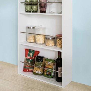 SoBuy® FWT17-W Bartisch Beistelltisch Stehtisch Küchentheke Küchenbartisch mit 3 Regalfächern Tresen weiß BHT: 112x106,5x57cm - 8