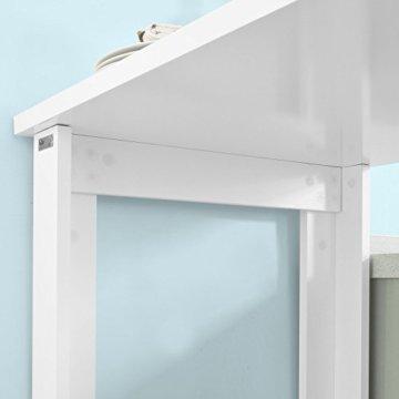 SoBuy® FWT17-W Bartisch Beistelltisch Stehtisch Küchentheke Küchenbartisch mit 3 Regalfächern Tresen weiß BHT: 112x106,5x57cm - 9