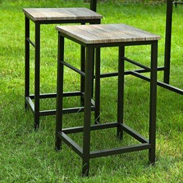 SoBuy® OGT11-N Bartisch Set 5-teilig Esstisch Stehtisch Bistrotisch mit 4 Stühlen Sitzgruppe - 6