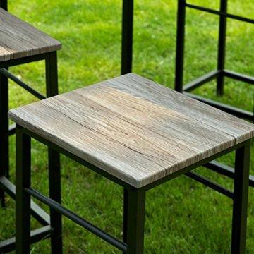 SoBuy® OGT11-N Bartisch Set 5-teilig Esstisch Stehtisch Bistrotisch mit 4 Stühlen Sitzgruppe - 8