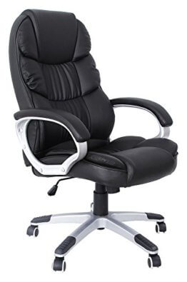 SONGMICS Bürostuhl Chefsessel höhenverstellung schwarz OBG24B - 1