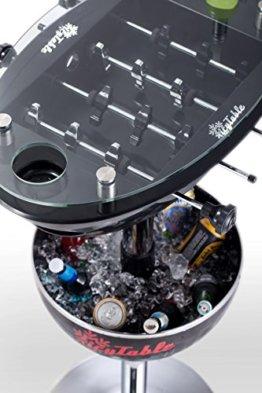 Sweety Toys 6656 Icy Table Multifunktionstisch: Bartisch-Kühlbox-Tischkicker SCHWARZ - 1
