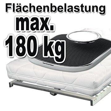 TAURO 22914 7 Zonen Lattenrost, 90 x 200 cm, Geeignet für alle Matratzen, Kopfteil verstellbar, Komfort Lattenrost mit 28 Leisten - 4