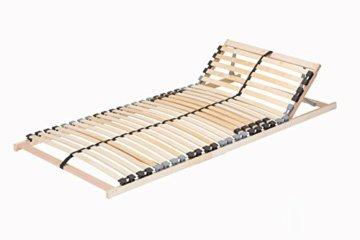 TAURO 22914 7 Zonen Lattenrost, 90 x 200 cm, Geeignet für alle Matratzen, Kopfteil verstellbar, Komfort Lattenrost mit 28 Leisten - 1