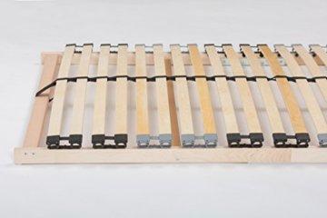 TAURO 22914 7 Zonen Lattenrost, 90 x 200 cm, Geeignet für alle Matratzen, Kopfteil verstellbar, Komfort Lattenrost mit 28 Leisten - 6