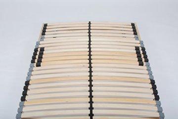 TAURO 22914 7 Zonen Lattenrost, 90 x 200 cm, Geeignet für alle Matratzen, Kopfteil verstellbar, Komfort Lattenrost mit 28 Leisten - 7