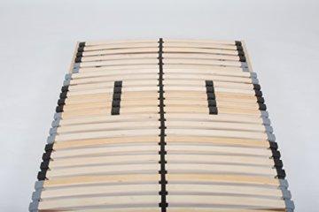TAURO 22914 7 Zonen Lattenrost, 90 x 200 cm, Geeignet für alle Matratzen, Kopfteil verstellbar, Komfort Lattenrost mit 28 Leisten - 8
