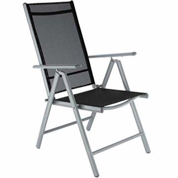 TecTake Aluminium Sitzgarnitur 4+1 Sitzgruppe Gartenmöbel Tisch & Stuhl Set - Diverse Farben - (Silber grau   Nr. 402169) - 3