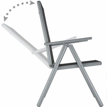 TecTake Aluminium Sitzgarnitur 4+1 Sitzgruppe Gartenmöbel Tisch & Stuhl Set - Diverse Farben - (Silber grau   Nr. 402169) - 4