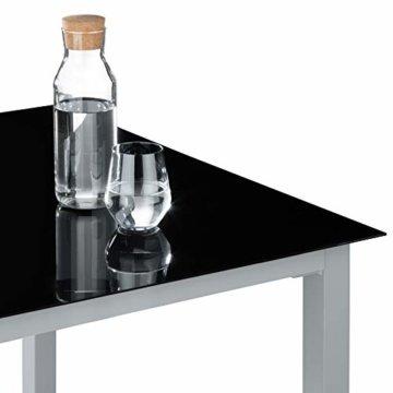 TecTake Aluminium Sitzgarnitur 4+1 Sitzgruppe Gartenmöbel Tisch & Stuhl Set - Diverse Farben - (Silber grau   Nr. 402169) - 6