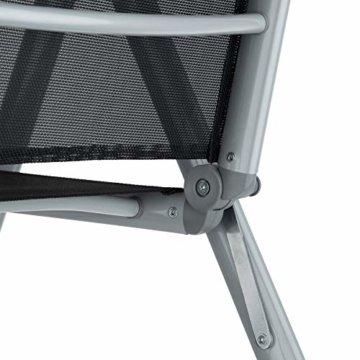 TecTake Aluminium Sitzgarnitur 4+1 Sitzgruppe Gartenmöbel Tisch & Stuhl Set - Diverse Farben - (Silber grau   Nr. 402169) - 7