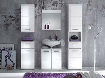 trendteam smart living Badezimmer 5-teilige Set Kombination Skin Gloss, 170 x 182 x 31 cm in Weiß Hochglanz mit viel Stauraum - 2