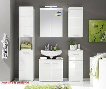 trendteam smart living Badezimmer Schrank Kommode Amanda, 37 x 79 x 31 cm in Weiß Hochglanz mit Schubkasten - 2