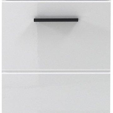 trendteam smart living Badezimmer Schrank Kommode Skin Gloss, 30 x 79 x 31 cm in Weiß Hochglanz mit Schubkasten - 5