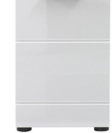 trendteam smart living Badezimmer Schrank Kommode Skin Gloss, 30 x 79 x 31 cm in Weiß Hochglanz mit Schubkasten - 6