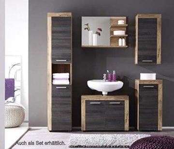 trendteam smart living Badezimmer Waschbeckenunterschrank Unterschrank Cancun Boom, 72 x 56 x 34 cm in Nussbaum Satin (Nb.) mit Siphonausschnitt - 3