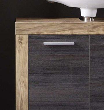 trendteam smart living Badezimmer Waschbeckenunterschrank Unterschrank Cancun Boom, 72 x 56 x 34 cm in Nussbaum Satin (Nb.) mit Siphonausschnitt - 4