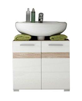 trendteam smart living Badezimmer Waschbeckenunterschrank Unterschrank Set One, 60 x 56 x 34 cm in Korpus Eiche San Remo Hell (Nb.) - 1