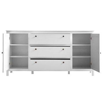 trendteam smart living Garderobe Schrank Kommode Sideboard Ole, 183 x 98 x 38 cm in Weiß mit viel Stauraum - 3