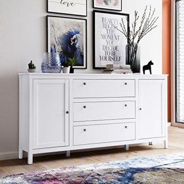 trendteam smart living Garderobe Schrank Kommode Sideboard Ole, 183 x 98 x 38 cm in Weiß mit viel Stauraum - 4