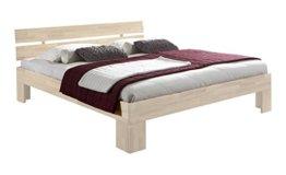 Unbekannt Massivholz-Bett Nano weiß 180 x 200 cm aus Kernbuche, Doppelbett, als Ehebett verwendbar, inkl. Rückenlehne, 1 Bett á 180 x 200 cm - 1