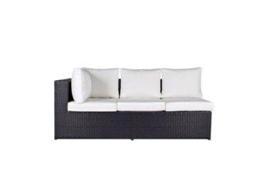 Vanage Montreal Gartenmöbel-Set XXXL, schöne Polyrattan Lounge Möbel für Garten, Balkon und Terrasse 2 Dreisitzer, schwarz/weiß - 2