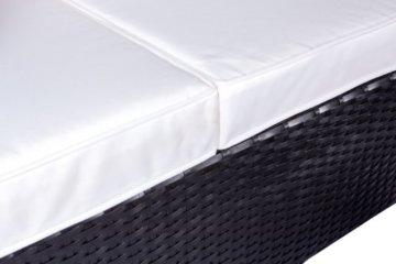 Vanage Montreal Gartenmöbel-Set XXXL, schöne Polyrattan Lounge Möbel für Garten, Balkon und Terrasse 2 Dreisitzer, schwarz/weiß - 6