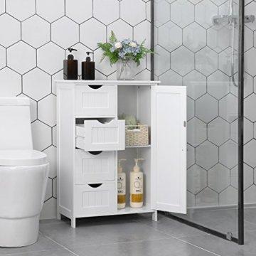 ᑕ ᑐ Vasagle Sideboard Badezimmerschrank Badschrank Aus Holz