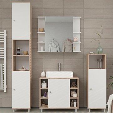 VICCO Badmöbel Set Badezimmermöbel FYNN Spiegel + Unterschrank + Midischrank + Hochschrank (Set 4, Eiche Sonoma) - 4