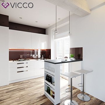 Vicco Bartisch Bar Weiß Anthrazit Tresen Bartresen Stehtisch Tisch Tresentisch Bistrotisch Küche Mir 3 Extra Fächern - 3